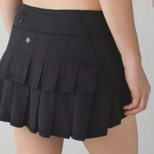 LULULEMON Pace Setter Skirt Skort Black Sz 8